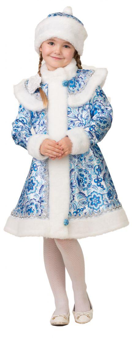 Детский костюм Снегурочки в шубке