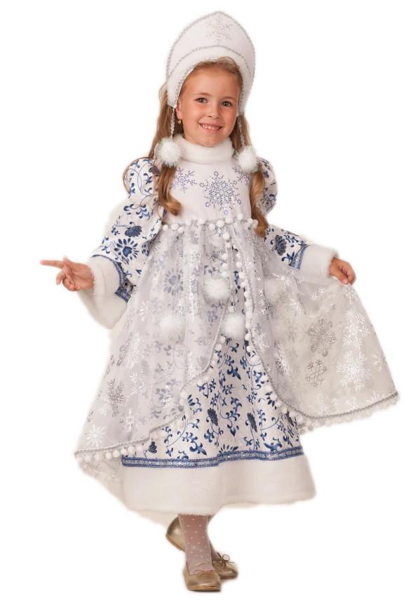 Детский костюм новогодней Снегурочки