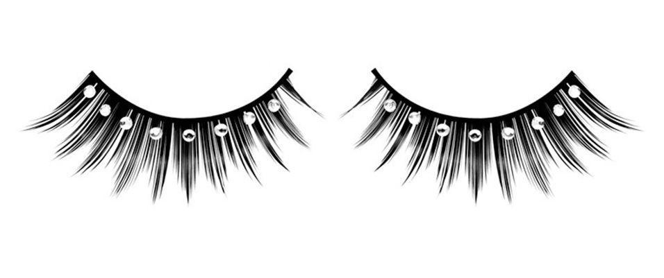 Ресницы густые черные со стразами