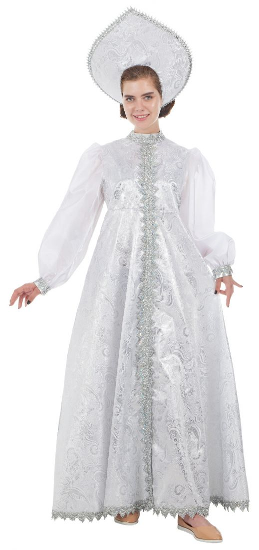 Костюм Снегурочки в белом платье