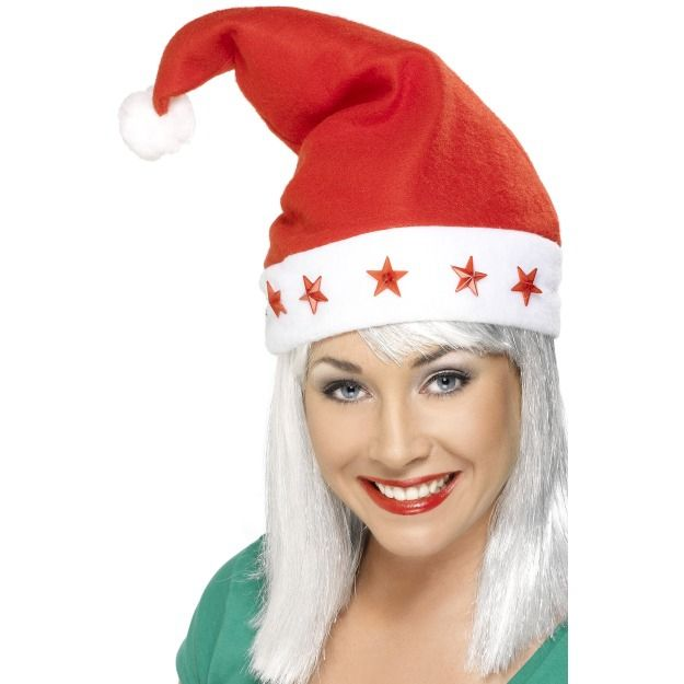 Женская шляпка Санты