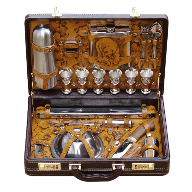 Набор для пикника в чемодане На привале на 6 персон 24178