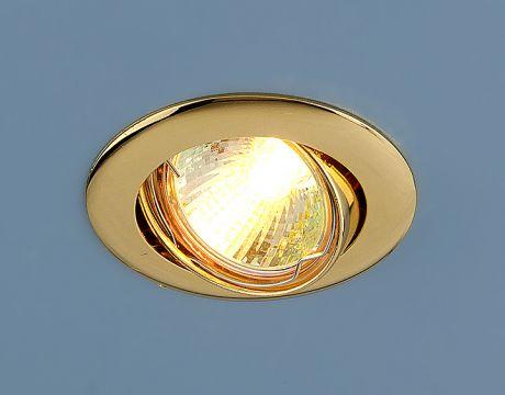 104S MR16 GD / Светильник встраиваемый золото