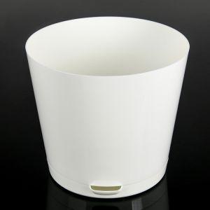 Горшок для цветов 0,75 л Easy Grow, D=12 см, с прикорневым поливом, цвет молочный