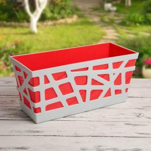 Ящик балконный «Мозаика», 40?17?18,5 см, цвет красный
