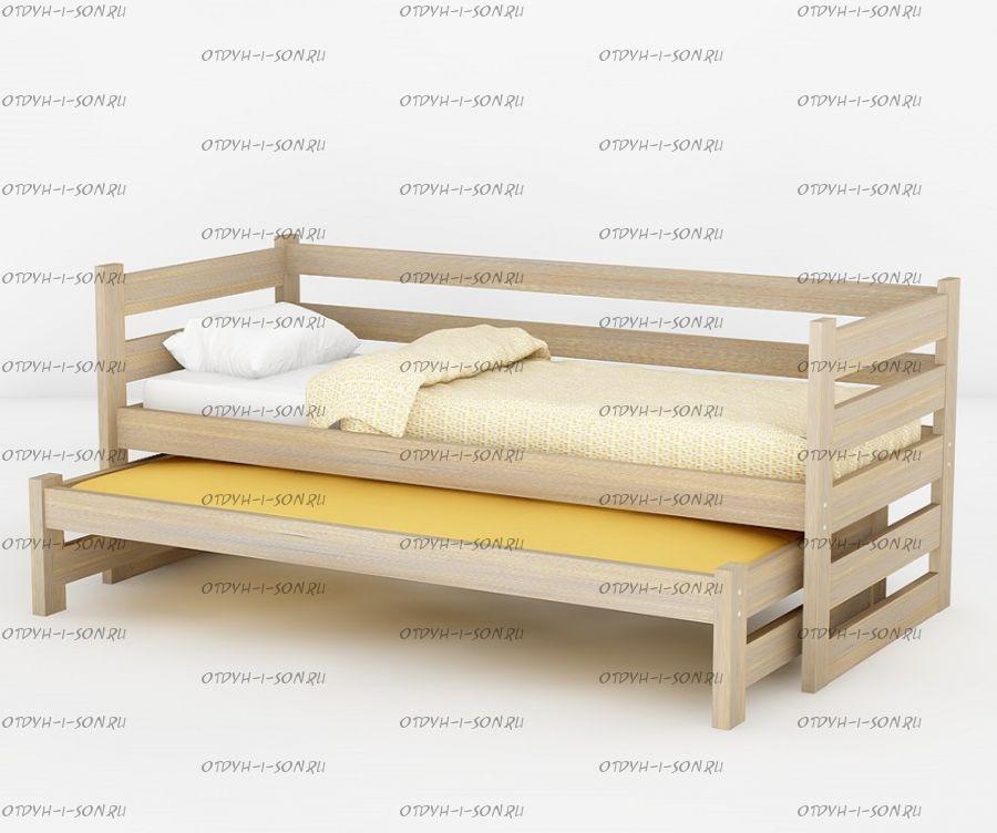 Кровать двухъярусная выкатная Меган №5W, любые размеры