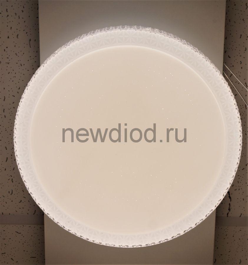 Управляемый светодиодный светильник PLUTON 630 72Вт-18м² 500мм пульт 6/3/4000K Oreol