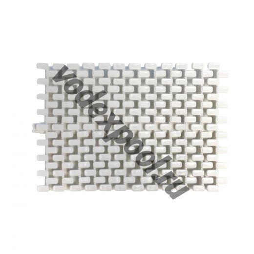 Переливная решетка Aquaviva Grift с центральным соединением 195x25 мм (белая)