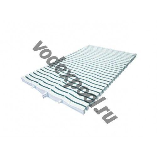 Решетка переливная для прямоугольного бассейна Kripsol NМR 2534.С (белая с легким голубым оттенком, 34х245 мм)