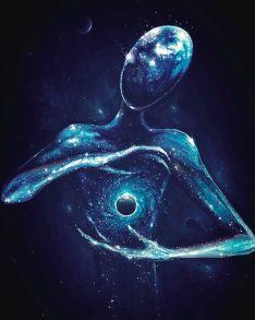 Алмазная мозаика «Вселенная в руках» 40x50 см