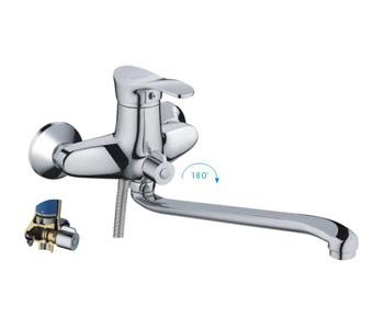 Смес ванна 40мм FRAP 2201 дивертор в корпусе нос S300 мм.