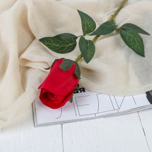 """Цветы искусственные """"Роза Карина"""" 4*46 см, красный   3794234"""