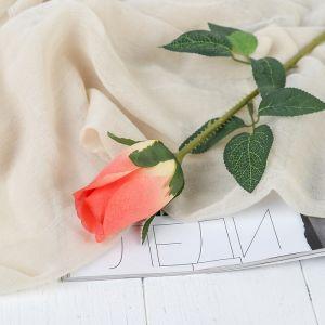 """Цветы искусственные """"Роза Карина"""" 4*46 см, персиковый   3794232"""