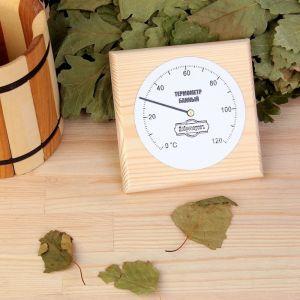 """Термометр для бани  """"Классика"""", 12,5х2х12,5см, """"Добропаровъ"""" 3821165"""