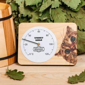 """Термометр для бани  """"Котейка"""", 15,2х11см, """"Добропаровъ"""" 3821172"""