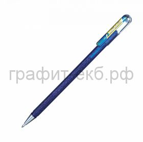Ручка гелевая Pentel Hybrid Dual Metallic синий + золото металлик К110-DXCX