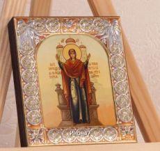 Икона Нерушимая стена Божией Матери (9х10,5см)