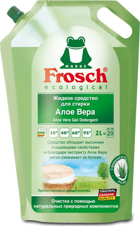 Жидкое средство для стирки Frosch Алоэ-вера для всех видов тканей 2 л