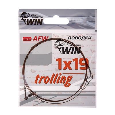 Поводок для троллинга Win 1х19 (AFW) Trolling 20 кг 50 см