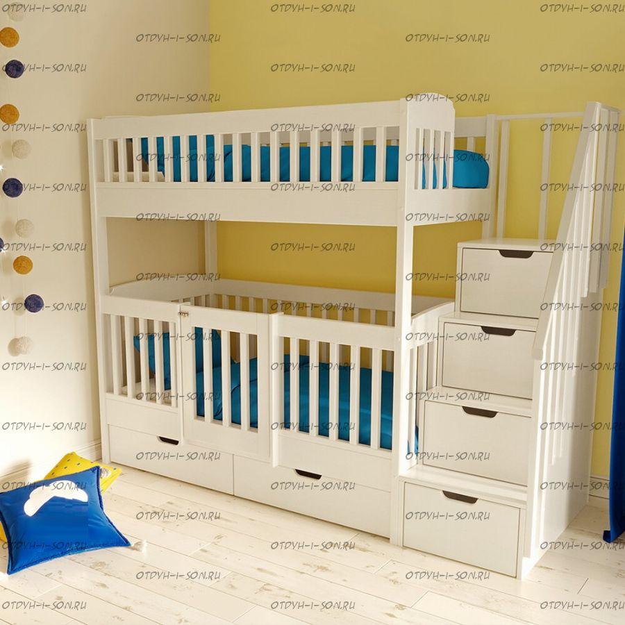 Кровать двухъярусная Малинка №7 Люкс