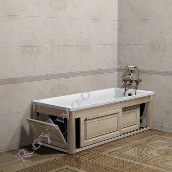 """Экран для ванны """"Челси-2 раздвижной, береза"""""""