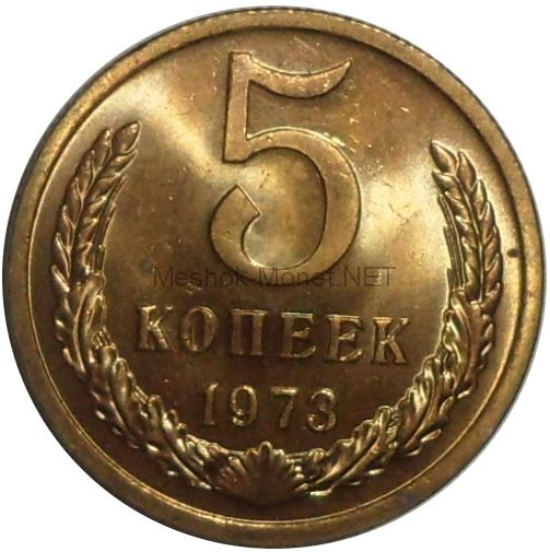 5 копеек 1973 года. Не наборная, мешковая # 2