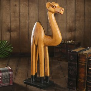 "Сувенир дерево ""Верблюд бежевый"" 13х30х60 см   4166104"