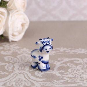 Сувенир «Бычок», синий, 4,7 см, гжель 4883799
