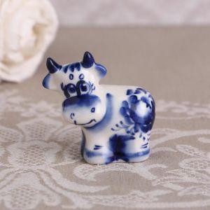 Сувенир «Лева», синий, 5 см, гжель 4883787