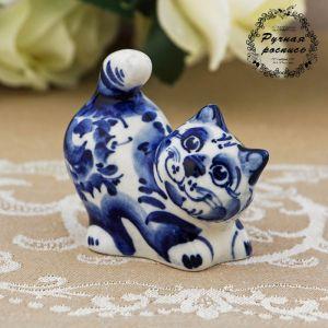 Сувенир «Кот Васька», 7 см, гжель 692755