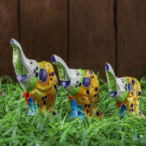 """Набор сувенирный """"Три весёлых слоника"""" 10х8х12 см   3370403"""