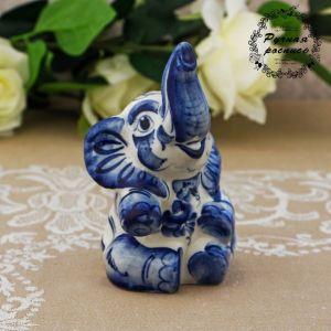 Сувенир «Слон циркач», 13 см, гжель 1363680