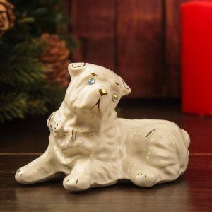 "Сувенир ""Собака Шарпей"", 8 см, глянец, белый, керамика"