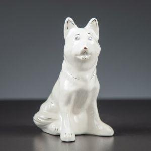 """Сувенир """"Собачка Овчарка"""", белый, 16 см, керамика"""