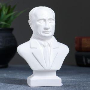 Бюст Путин малый белый, 5х8х13 см 1310186