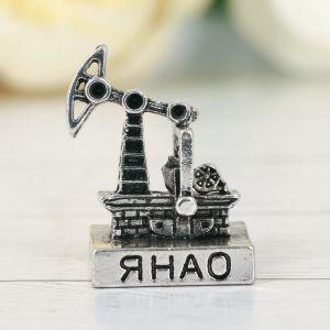 Фигурка «ЯНАО. Нефтяная вышка», под черненое серебро