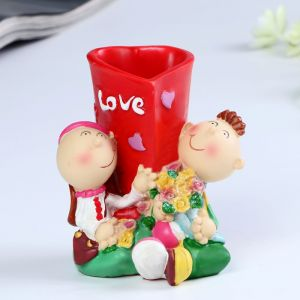 """Карандашница """"Love"""" 9,5х8х10,5 см микс 4824293"""