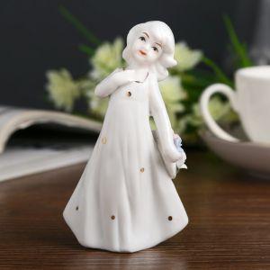 """Сувенир керамика """"Малышка со шляпкой"""" 11х6х3 см   4022094"""