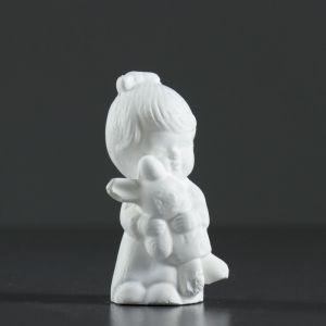 """Фигура """"Девочка с зайчиком"""" белая 9,5х4 см   4417088"""