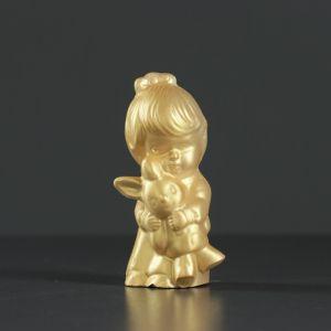 """Фигура """"Девочка с зайчиком"""" золото 9,5х4 см   4417087"""