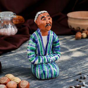 Фигурка керамическая Узбек с усами 14см   3554775