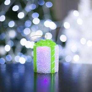 "Игрушка световая ""Подарок"" (батарейки в комплекте) 7 х 8,5 см, 1 LED, RGB, БЕЛЫЙ 2315179"