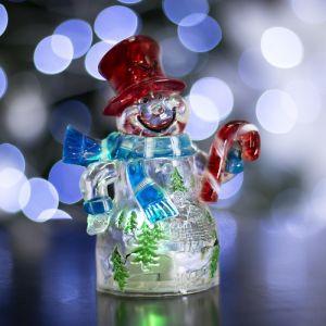 """Игрушка световая """"Снеговик и леденец"""" (батарейки в комплекте) 1 LED, RGB 1077334"""
