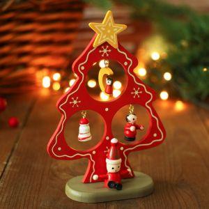 "Сувенир новогодний ""Елка на подставке"", с Дедом Морозом"