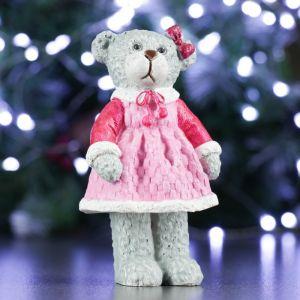 "Фигура ""Мишка в платье""  7.5х6.5х12.5см   4488544"