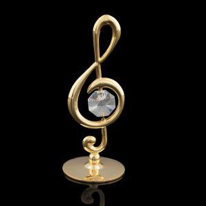 Сувенир «Скрипичный ключ», 3,2?3,2?8 см, с кристаллом Сваровски 1196116