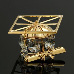 Сувенир «Шапка магистра», 5?5?3,5 см, с кристаллами Сваровски 4127873
