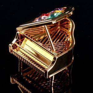 """Сувенир с кристаллами Сваровски """"Рояль"""" 7,1х6,8 см    4266204"""