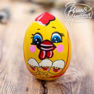 Пасхальное яйцо «Курочка с цыплятами», 7 см