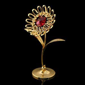 Сувенир «Подсолнух», 3?6,5?9,5 см, с кристаллами Сваровски 1925022